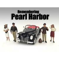 Remembering Pearl Harbor 4 Piece Figure Set For 1:24 Scale Models by American Diorama