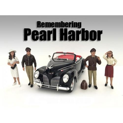 Quality Remembering Pearl Harbor 4 Piece Figure Set For 1:24 Scale Models by American Diorama for sale
