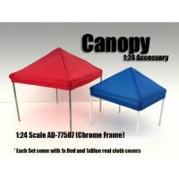 China Canopy Accessory Blue and Red with 1 Chrome Frame 1:24 Scale by American Diorama wholesale