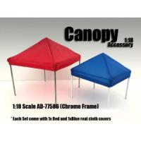 China Canopy Accessory Blue and Red with 1 Chrome Frame 1:18 Scale by American Diorama wholesale