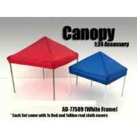 China Canopy Accessory Blue and Red with 1 White Frame 1:24 Scale by American Diorama wholesale