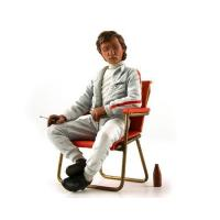 China Jochen Rindt 1960's with Campsite Seat and Soda Bottle Figurine 1/18 by Lemans Miniatures wholesale