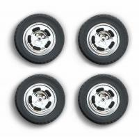 China 1978 Ford Mustang II Cobra Five Slot Performance Wheels and Tires Set 1/18 by Greenlight wholesale