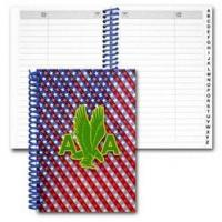 China Lenticular address book with patriotic stars and stripes, color changing wholesale
