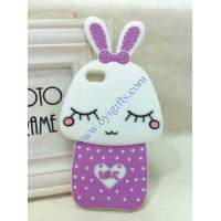 China Cartoon shy rabbit silicone phone covers wholesale