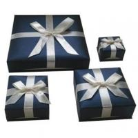 China Nice design of jewelry cardboard box with ribbon wholesale