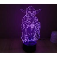 Starwars Yoda Shape 3D Led Lamp