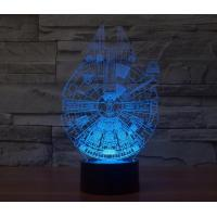 China Starwars Millennium Falcon 3D Led Lamp wholesale
