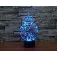 China Starwars BB8 Robot 3D Led Lamp wholesale