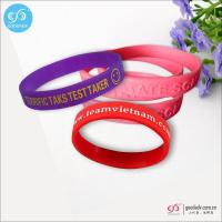 China Products Silk screen printing logo custom silicone wristbands wholesale