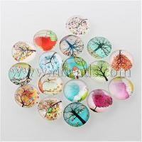 China Tree of Life Printed Half Round/Dome Glass Cabochons, Mixed ...(X-GGLA-A002-15mm-GG) wholesale