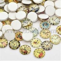 China Clock Printed Glass Cabochons, Half Round/Dome, Mixed Color,...(X-GGLA-A002-12mm-YY) wholesale