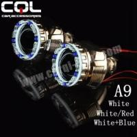 China 3D led halos ring A9,white/red color angel eyes wholesale