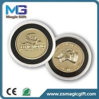 China Promotion 3D metal gold coin with plastic box wholesale
