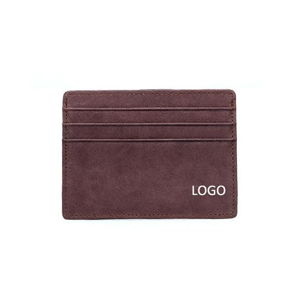 Quality Custom mens genuine leather 7 slots cards holders cards case card cover pockets for sale