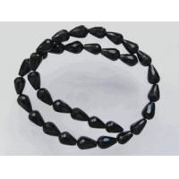 Black Onyx Faceted Teardrop Beads 12x8mm