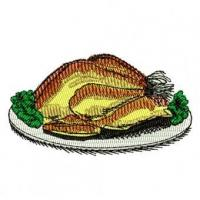 China Cooked Turkey Dinner Embroidery Design wholesale