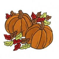 China Fall Pumpkins Embroidery Design wholesale