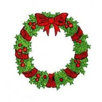 China Christmas Wreath Embroidery Design wholesale