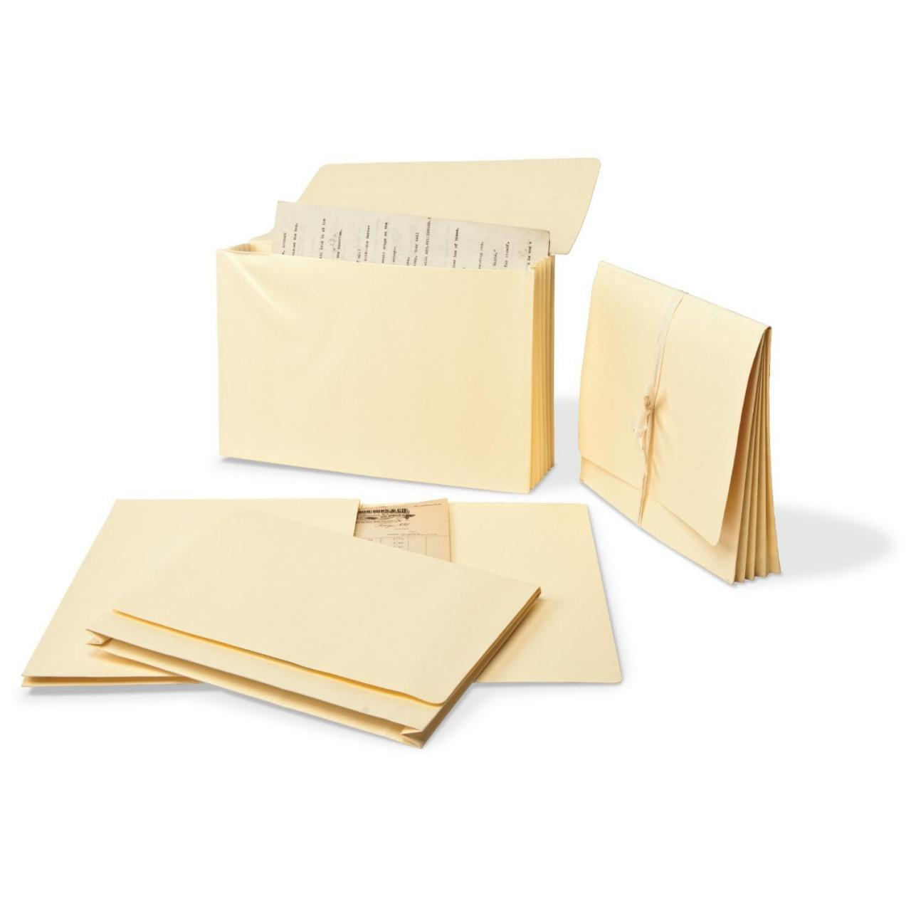 "China Gaylord Archival Expanding Letter Size File Folders with 1 1/2"" Gussets (5-Pack) wholesale"