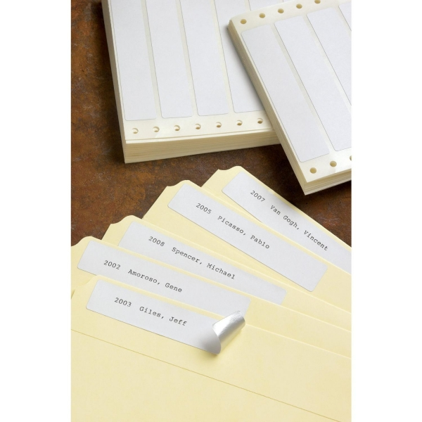 Quality Foil-Back Pin-Feed File Folder Labels (1,000-Pack) for sale