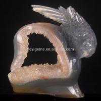 China Customized Agate Geode Crystal Animal Figurine Handcraft Gifts wholesale