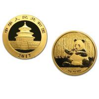 China Buy Bullion 2017 15 Gram Chinese Panda Gold Bullion Coin 500 Yuan Face .999 Fine wholesale