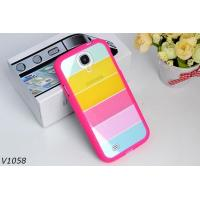 China Soft Silicone Protective Cover Case For Samsung Galaxy S4 i9500 Colorful Strips Case Rainbrow Case wholesale