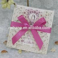 China Gifts & Crafts handmade & best selling wedding invitation card wholesale