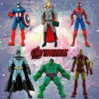 China 6PCS MARVEL HERO THE AVENGERS CHARACTER ACTION FIGURES KID TOY CAKE TOPPER DECOR $32.95 wholesale