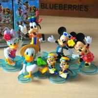 China 6pcs Disney Mickey Minnie Goofy Chip Dale Action Figures Toy Cake Topper Decor $17.95 wholesale