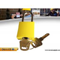 Buy cheap Different Key Yellow Aluminum Safety Lockout Padlock with Brass Key from wholesalers