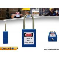 Buy cheap Loto Equipment 38mm Steel Shackle Blue Colour Safety Lockout Padlocks from wholesalers