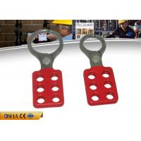 Buy cheap ZC-K12 Vinyl Coated Aluminum Hasp , 1.5'' 6pcs Padlocks 39g Hasp Lockout from wholesalers