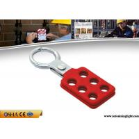 Buy cheap 25 Mm Small Size Safety Lock Out Aluminum Lock Hasp With 6 Holes from wholesalers