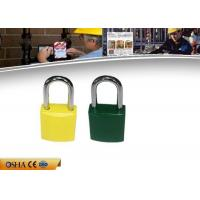 Buy cheap Colorful Aluminum Safety Lockout Padlocks Stable Paint Coating Surface from wholesalers