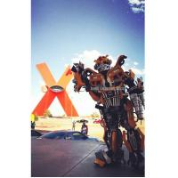 China Popular Robot Costume For Events From Mexico client Transformers Bumblebee feedback wholesale