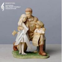 China Military Figurine - Soldier Coming Home To Family wholesale