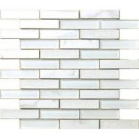 crystal and marble plaid mosaic