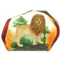 China Wildlife Lion in Lucite Figurine #16 50% OFF wholesale