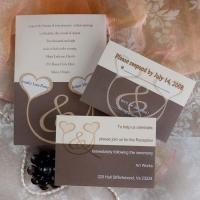 China Two Intertwined Hearts Wedding Invitations INSH071 wholesale