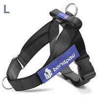 China Bondpaw Large Dog Harness 2nd Gen No Pull Dog Harness with D Ring in Front, Black wholesale