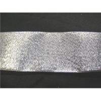 "China Ribbons Silver 1"" Metallic Ribbon wholesale"