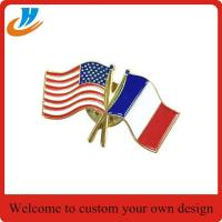 China BS002 soft enamel flag lapel pin wholesale