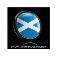 China Dome Style 3 Inch Magnetic Badge - Scotland Flag wholesale