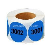 China supermarket shelf numbered adhesive labels wholesale