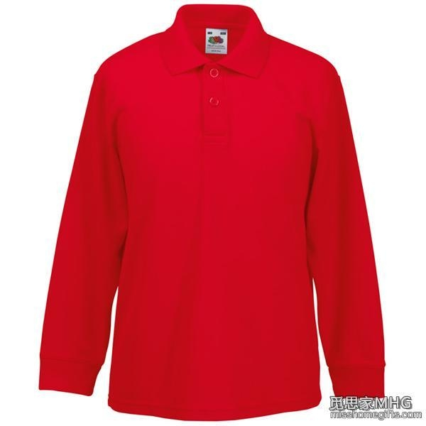 Quality Apparel & Clothing AP1005Kids Long Sleeve Polo Shirt for sale