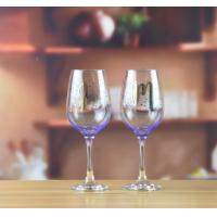 Drinking Glasses Purple Wine Glass With Color Print Logo
