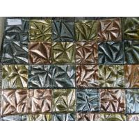 Square Shape Gold Foil Hand Printed Resin Mosaic Decoration from Mosaic