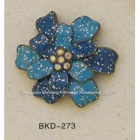 plate Shinning Orchid Metal Ornament For Pendant and Jewelry